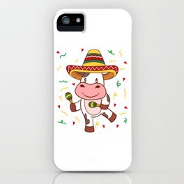 "Mexican themed Top Garment Apparel ""Cow Farm Grill Meat BBQ Brisket"" T-shirt Design Mexico iPhone Case"