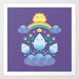 Happy water spirits Art Print