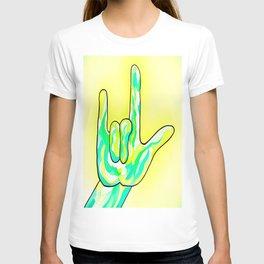 ASL I Love You Baby Yellow T-shirt