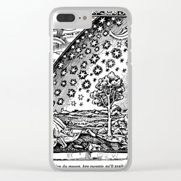 Flammarion Woodcut Clear iPhone Case