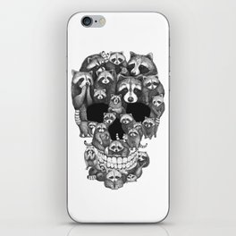 Skull from raccoons iPhone Skin