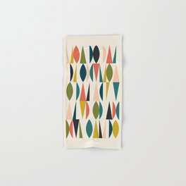 Mid Century Modern Abstract Colorful Shapes Funky Cool Minimalist Pattern Hand & Bath Towel