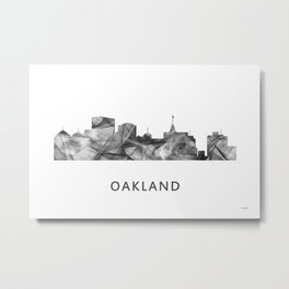 Oakland, California Skyline WB BW Metal Print