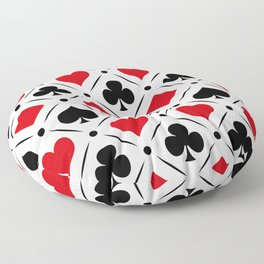 Playing card suits symbols Floor Pillow