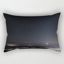 Arizona Desert Night Sky Stars Rectangular Pillow