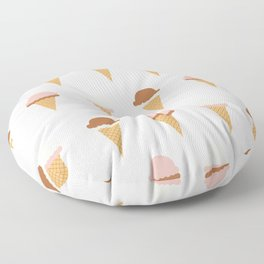 Multiple Ice-creams Floor Pillow