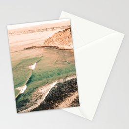 California Pacific Coast Highway // Vintage Waves Crashing on the Beach Teal Ocean Water Stationery Cards