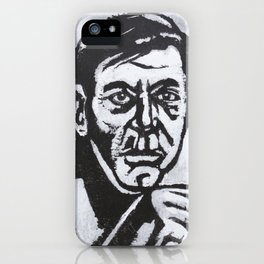 male portrait in gouache and ink iPhone Case
