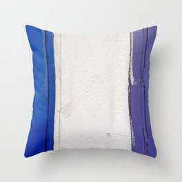 Blue White Blue Throw Pillow