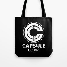 Capsule Corp Vintage white Tote Bag