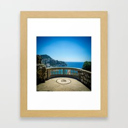 Chateau View in Nice Framed Art Print