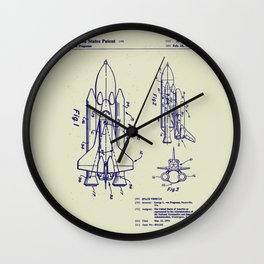 1975 NASA Space Shuttle Patent Wall Clock