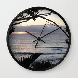 Peeping Through- Sunrise Caloundra Wall Clock