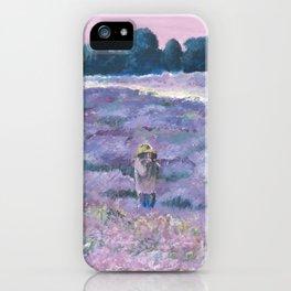 Champ de lavande iPhone Case