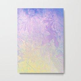 Golden Fall Watercolor Leaf Impressions Metal Print
