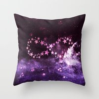 infinity Throw Pillows featuring INFINITY by Monika Strigel