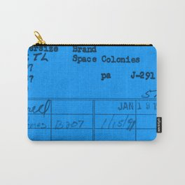 Library Card 797 Blue Carry-All Pouch