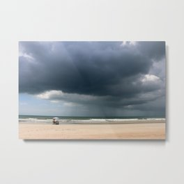 A Peaceful Day At The Seaside Metal Print