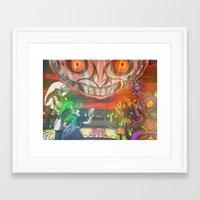 majoras mask Framed Art Prints featuring Legend of Zelda Majoras Mask by LuisIPT
