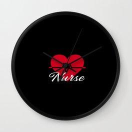Nurse Heartbeat Love this Job Wall Clock