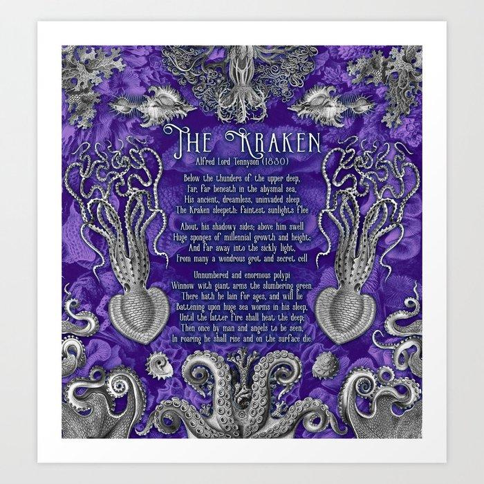 The Kraken (Purple) Kunstdrucke