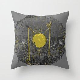 Sound on the underground Throw Pillow