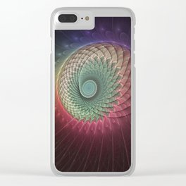 Abstract And Colorful Snail, Fractal Art Clear iPhone Case