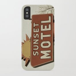 Sunset Motel iPhone Case