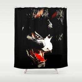 Kitsune Yokai Japanese Evil Fox Mask Shower Curtain