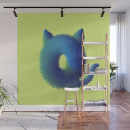 Cute furry monster Wall Mural