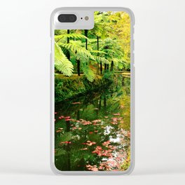 Autumn in the park Clear iPhone Case