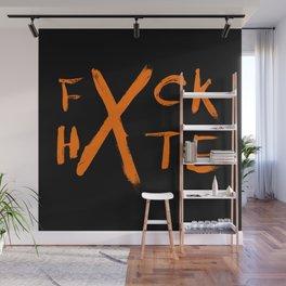 FXCK HXTE - Orange Paint Wall Mural