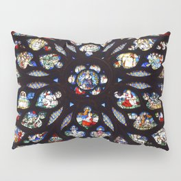 Stained glass sainte chapelle gothic Pillow Sham