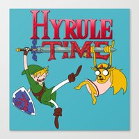 hyrule Canvas Prints featuring Hyrule Time by Marcos Raya Delgado