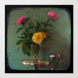 Grandma's Peonies - Through The Viewfinder (TTV) Canvas Print