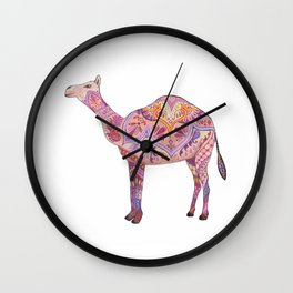 Henna Camel Wall Clock
