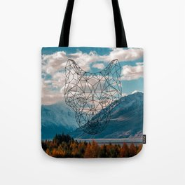 Wolf nature mountain Tote Bag