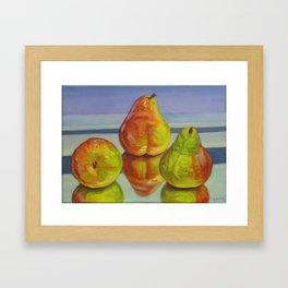 Pear Reflection Framed Art Print
