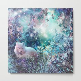 sleeping fox, enchanted dreams Metal Print