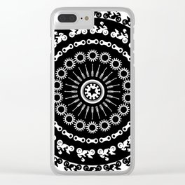 Motorcycle Mandala Clear iPhone Case