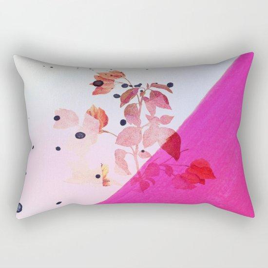 modern bougainvillea Rectangular Pillow