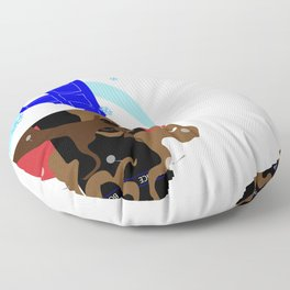 Upside Down Time Travel Floor Pillow