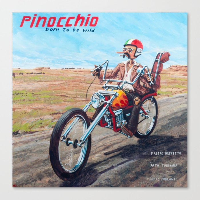 Pinocchio - Born to be wild Canvas Print