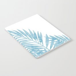 Palm Leaves Light Blue Notebook