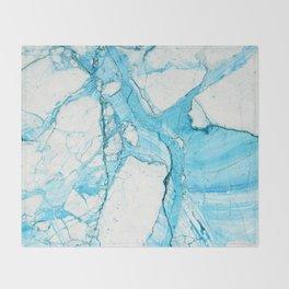 Blue marble Throw Blanket