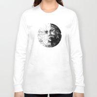 anxiety Long Sleeve T-shirts featuring Anxiety by Tsukiko-Kiyomidzu