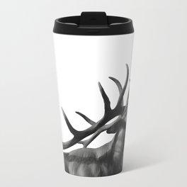 Elk in Black in White Travel Mug