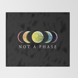 Not A Phase Gay Pride LGBT Throw Blanket