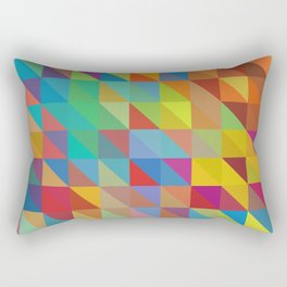 Color Chaos Rectangular Pillow