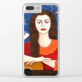 """Violeta Parra - """"Thanks to Life """" Clear iPhone Case"""